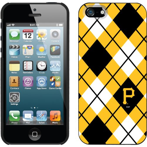 Special Sale Pittsburgh Pirates - Argyle design on a Black iPhone 5 Thinshield Snap-On Case by Coveroo