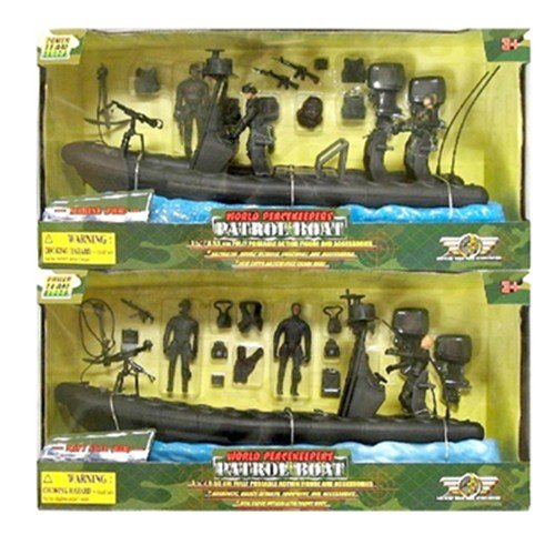 Buy Low Price M & C Toy World Peacekeepers Navy Seal Patrol Boat Figure (B0006TOK5Q)