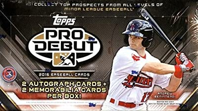 2016 Topps Pro Debut Baseball Hobby Box (24 Packs of 8 Cards -2 Autographs, 2 Relics) (Release Date: 5/25/16)
