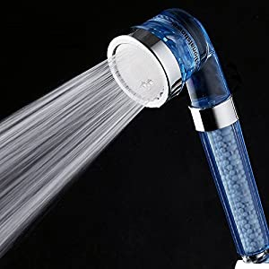 efluky hand shower head water saving ionic filter chlorine filtration showers head universal. Black Bedroom Furniture Sets. Home Design Ideas