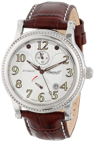 Ingersoll Unisex Quartz Watch with Silver Dial Analogue Display and Brown Leather Strap IN4702SL