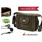 [CANVAS] ARMY GREEN | Universal 10-inch Tablet Case Messenger Bag for 10.1 Asus Eee Pad Slider. Bonus Ekatomi...