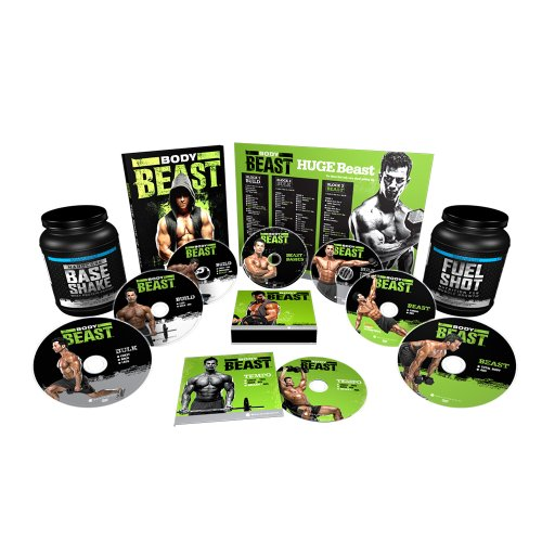 Body Beast Dvd Workout With 2 Supplements - Deluxe Kit