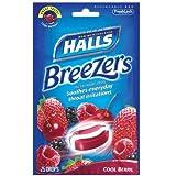 【のど飴】ホールズ クールベリー味 Halls Breezers Drops, Cool Berry, 25-Count Drops (25粒入り)