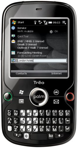 Palm Treo Pro Unlocked Cell Phone with 2 MP Camera, 3G, Wi-Fi, GPS, MicroSD - U.S. Version with Warranty (Black)