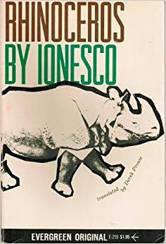 a review of the book rhinoceros by eugene ionesco Murat daltaban's brilliant new production of rhinoceros is one of those shows and it makes a thrilling start to the 2017 festival theatre programme waltzing turkish dance-rhythms presented live by composer oguz kaplangi, daltaban's production makes brisk 110-minute work of eugene ionesco's 1959.