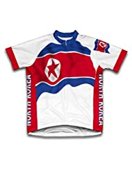 North Korea Flag Short Sleeve Cycling Jersey for Women