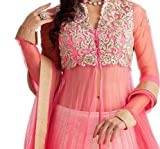 Fashion Dream Womens Georgette Salwar Suit (2_Pink Panther_Pink_Freesize )