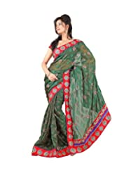 Triveni Casual Fancy Saree With Unstitch Blouse - 5557