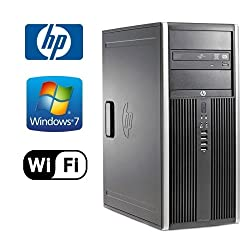 HP 6200 Pro Microtower - Intel Core i3-2100 3.1GHz - 8GB DDR 3 RAMNEW 1TB HDD - Windows 7 Pro 64-Bit - WiFi - DVD-RW (Prepared by Re-Circuit) Desktop