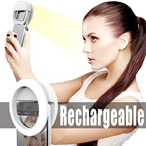 Ring-Light-for-Camera-Rechargable-BatterySelfie-LED-Camera-Light-36-LED-for-iPhone-iPad-Sumsung-Galaxy-Photography-Phones-White