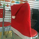 Generic 1pcs Santa Red Hat Chair Covers Christmas Decorations Party Dinner Chair Xmas Cap Sets Lovely Christmas...