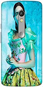 Snoogg Shy Chic Designer Protective Back Case Cover For Motorola X Play