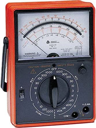 Triplett 3145 Ruggedized Analog Multimeter with Voltmeter Ohm Meter and 28 Ranges and Functions
