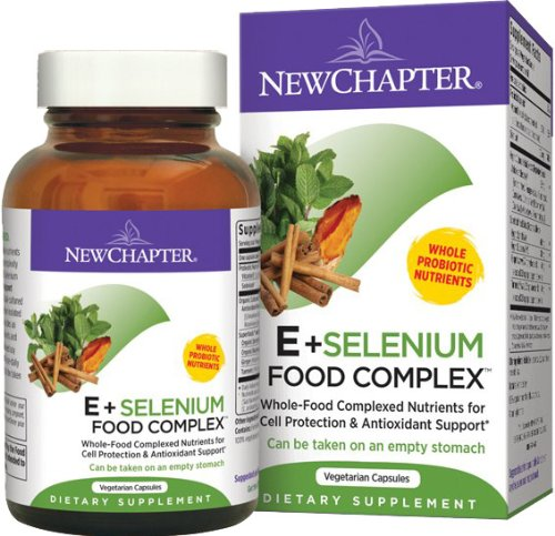 New Chapter E And Selenium Food Complex -- 60 Vegetarian Capsules