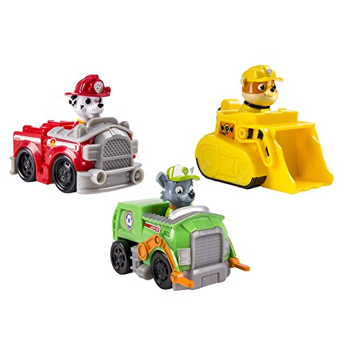 Spinmaster 6024058 - Paw Patrol Rescue Racer Personaggi, Marshall, Rocky, Rubble