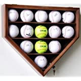 14 Softball Display Case Cabinet Wall Rack Home Plate Shaped w  UV protection by sfDisplay