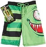 Rude Boyz 8-20 Monster Boardshorts Set Small 8 Lime green