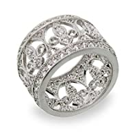 Fleur de Lis Diamond Cubic Zirconia Band Size 5 (Sizes 5 6 7 8 9 Available)