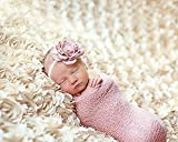 Newborn Baby Photography Photo Props 3D Rose Flower Backdrop Beanbag Blanket Rug (Beige)