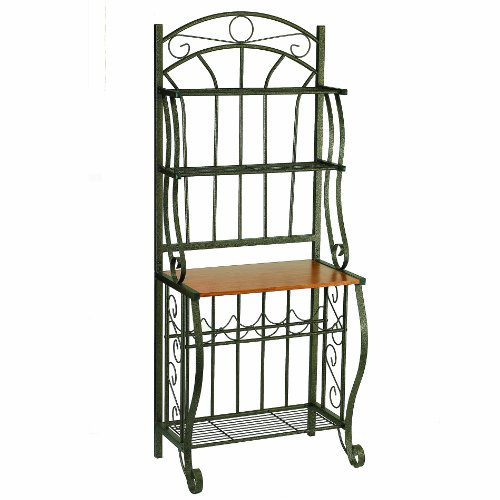 Old dutch copper baker 39 s rack with wine rack 27 14 by 16 for Affordable furniture in baker