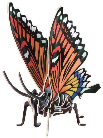 Cheap Toysmith Jigsaw Puzzle: 3-D Wooden: Butterflies: Monarch (B000FS6R9K)
