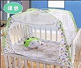 cloud-castle Mosquito Nets anti-Bug Cuna Cama Guardería de mosquitos Malla tienda de campaña para bebé verde