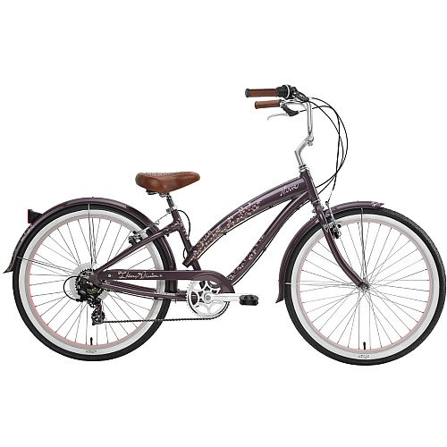 Nirve Cherry Blossom Women's 7-Speed Beach Cruiser Bike