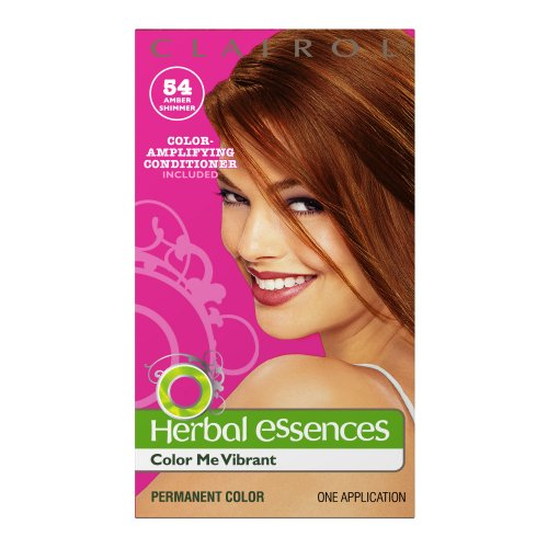 Clairol Herbal Essence Color, 054 Amber Shimmer-light Pure Golden Brown (Pack of 3)