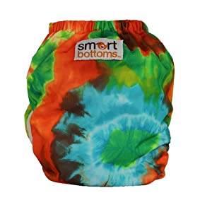 Smart Bottoms Smart 3.0 OS Organic All-in-one Cloth Diaper (Tie Dye)