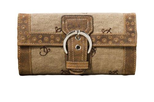 Distressed Cowhide Buckle Wallet