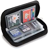 Black 22 slots Pouch Holder For Micro Memory SD SDHC MMC CF Card Case