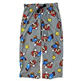 Super Mario Boys Grey Flannel Pajama Pants