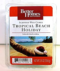 Better homes and gardens scented wax cubes tropical beach holiday candle melt for Better homes and gardens wax melts