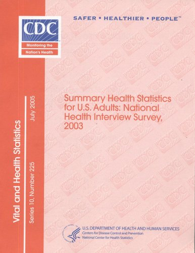 Summary Health Statistics for United States Adults: National Health Interview Survey, 2003: 225 (Vital and Health Statistics. Series 10. Data from the Nation)