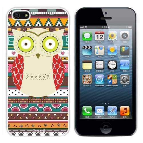 New Releases Iphone 5g Case Retro Style Owl Aztec Andes Tribal Pattern Iphone 5 Cases (White Pc+pearlescent Aluminum) Fs-0317 at Amazon.com