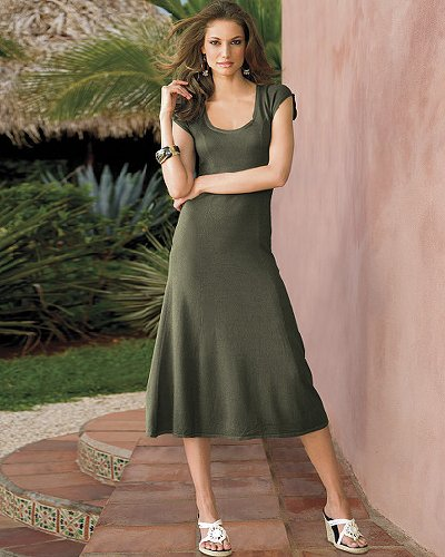 A-line sweater dress by Newport News
