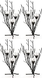 4 Crystal Tree Tealight Candle Wedding Centerpieces