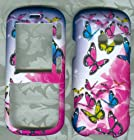 Rose Butterfly Vn250 Rubberized Shield Protector Case for Lg Rumor2 Lx265 Cosmos