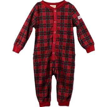 Dr. Denton Union Suit Red Plaid 1-Piece Pajamas 4/5-10/12 (6/7)