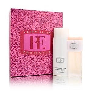 Portfolio by Perry Ellis for Women 2 Piece Set Includes: 1.7 oz Eau de Parfum Spray + 6.7 oz Moisturizing Body Lotion