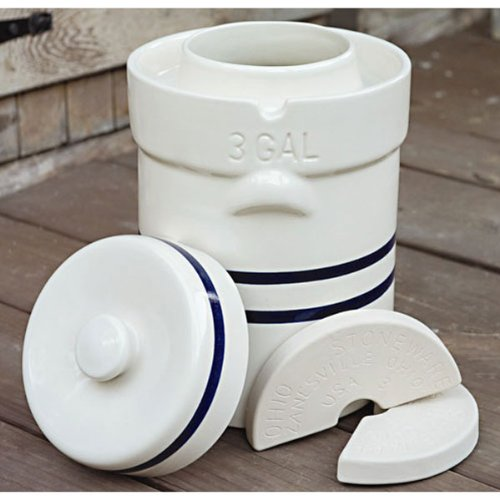 Ohio Stoneware 3 Gallon Fermentation/Preserving Crock Set - Great for Pickling and Sauerkraut!!