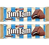 Arnott's Tim Tam Double Choc Vanilla 185g (2 Pack) (Made in Australia) [Amazon Prime] (2 Pack)