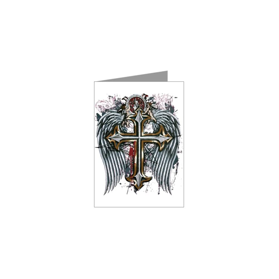 Greeting Cards (10 Pack) Cross Angel Wings Everything