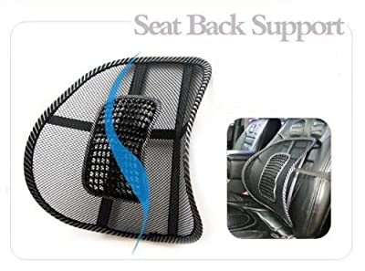 New Car Seat Chair Massage Back Lumbar Support Mesh Ventilate Cushion Pad Black