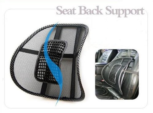 New Car Seat Chair Massage Back Lumbar Support Mesh Ventilate Cushion Pad Black front-956132