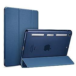 iPad mini Case iPad mini 2 Case ESR Corner Bumper Protection Soft TPU Bumper Edge Smart Case with Auto Sleep Wake Function for Apple iPad mini 1 2 3 Champagne Gold TPU+PC Back_Ming Blue