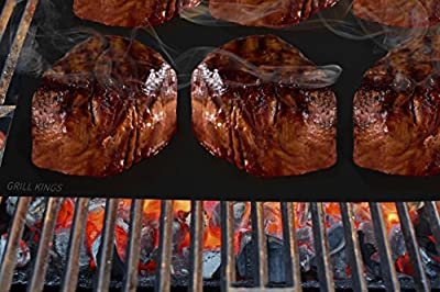 Grill Mat - Great for Barbecue - #1 Selling BBQ Tool - Better Than Yoshi and As Seen on Tv Miracle Grill - Best Gift for Dad - Works for Grilling, Baking, Broiling and Much More - Heat Resistant Non Stick - Safe up to 500 Degrees - Charcoal Safe Non Ptfe