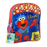 Elmos Sesame Street Kids Small Backpack School Book Bag Tote Red Blue
