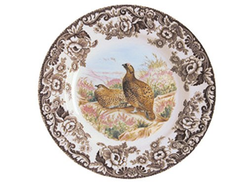 Buy Spode Woodland Game Birds 10-Inch Dinner Plate, Red Grouse